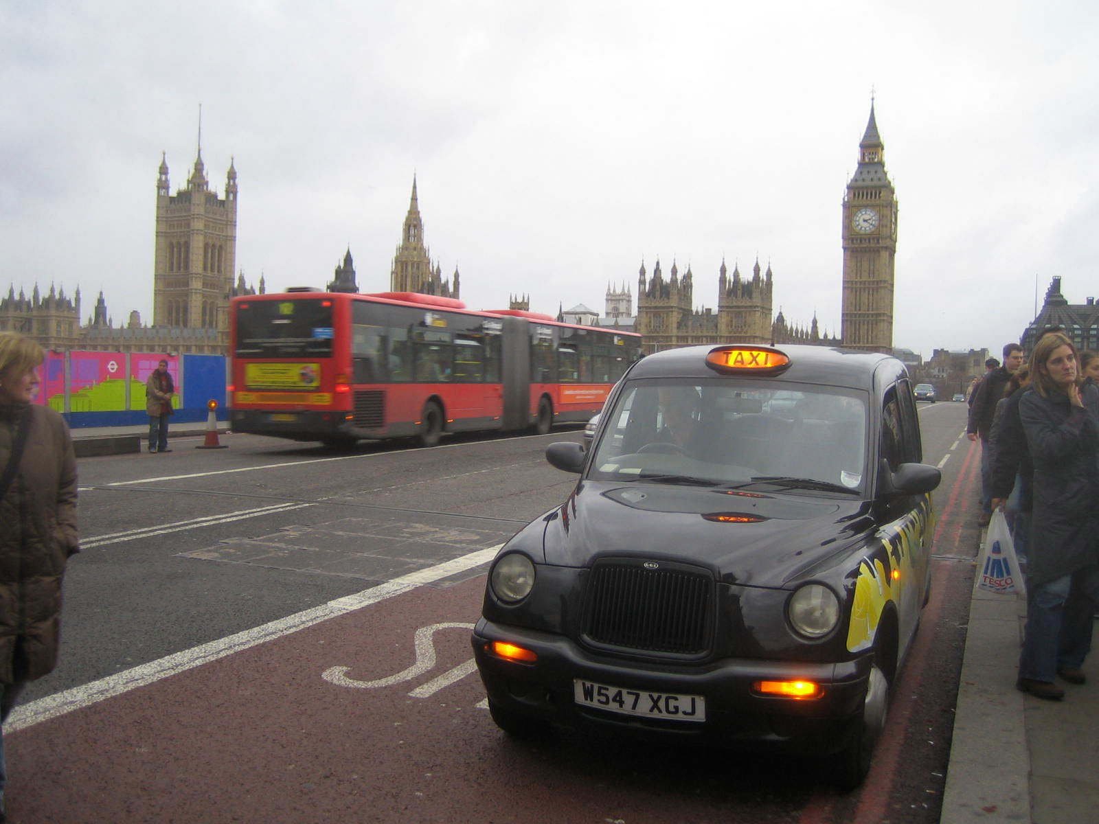 Black cabs, red buses, grey skies... welcome to London