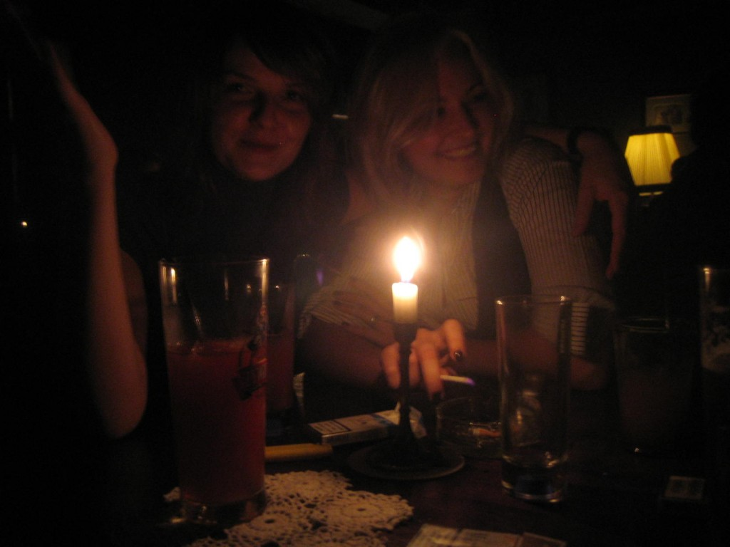 Getting cosy by candlelight