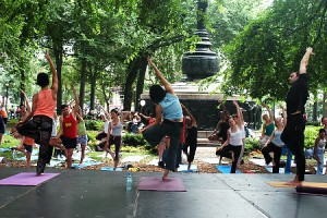 Yoga in Union Square