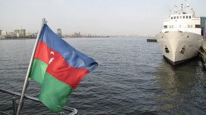 Flying the flag over the Caspian sea