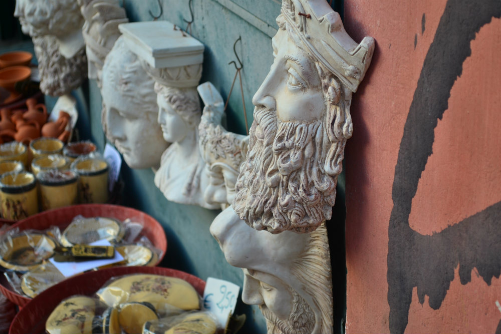 Gods for sale in Plaka