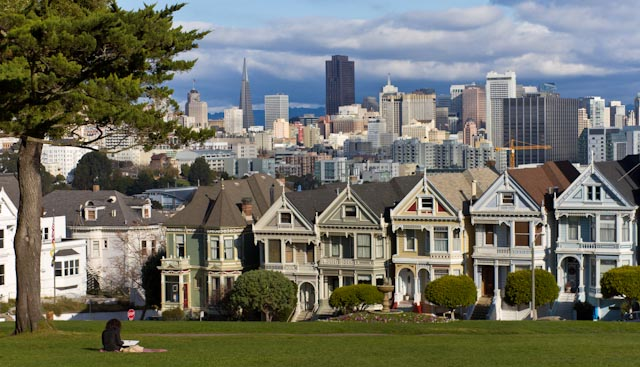 The views from Alamo Square Park
