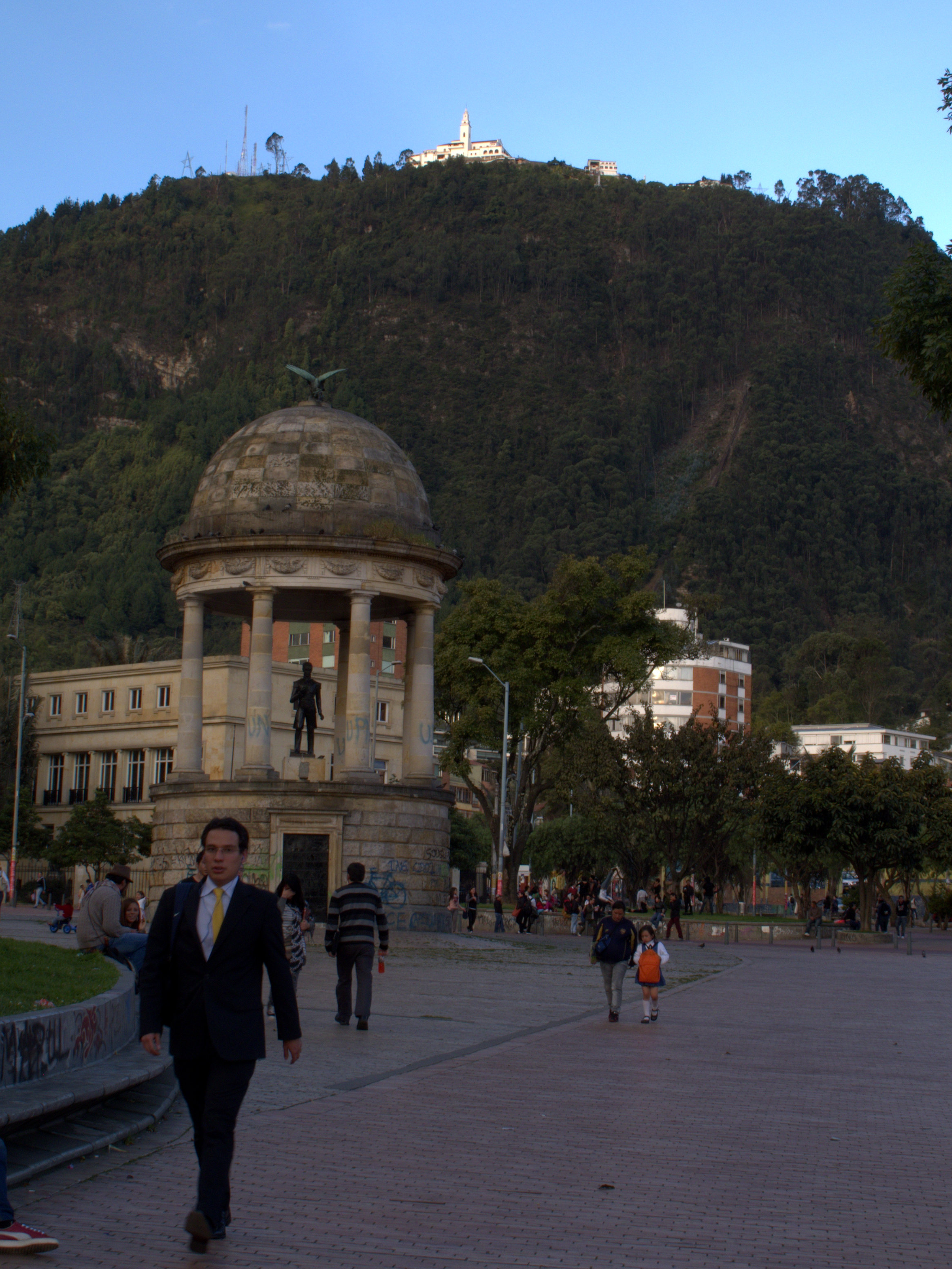 The twilight view towards Monserrate