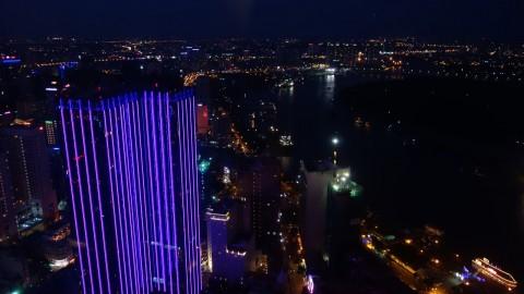 Night views from Alto Bar Ho Chi Minh City Vietnam