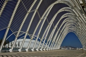 An impressive path to the Olympic Stadium in Athens ala Calatrava.