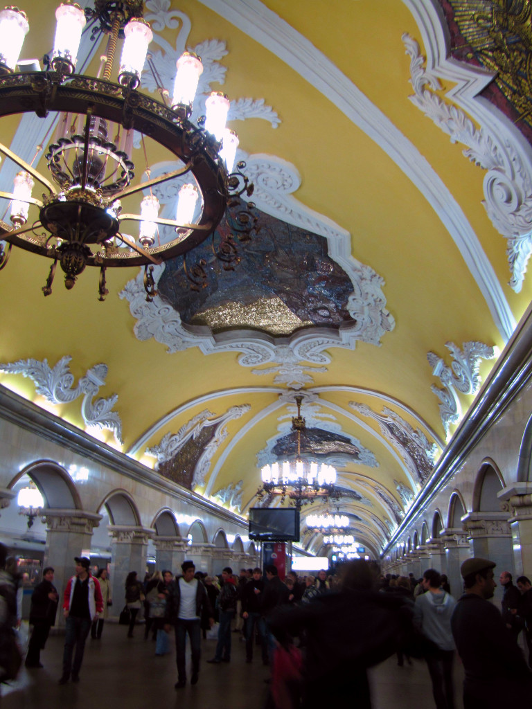 "Stalin insisted that the metro stations be ""palaces to the people""."