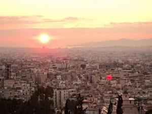 Panoramic view from Strefi Hill.