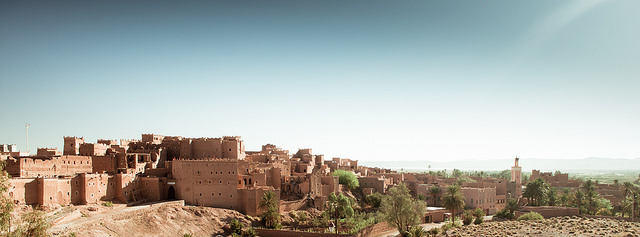 Saharan Landscape – Alexander Cahlenstein. A panoramic snapshot of the ancient town of Ouarzazate.