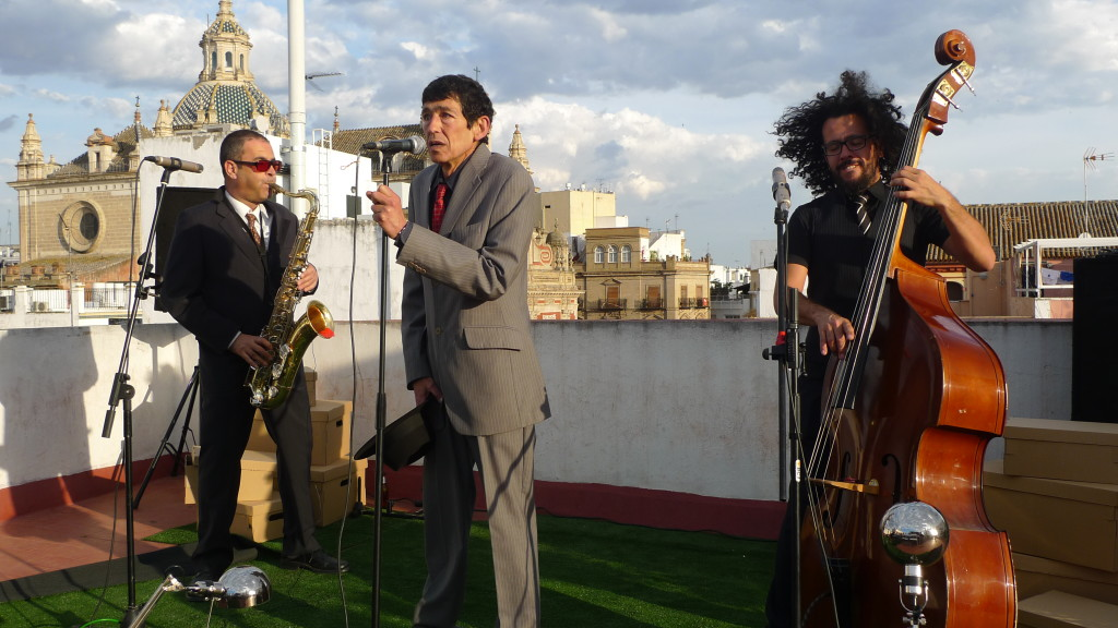 Rocking out on a Seville rooftop