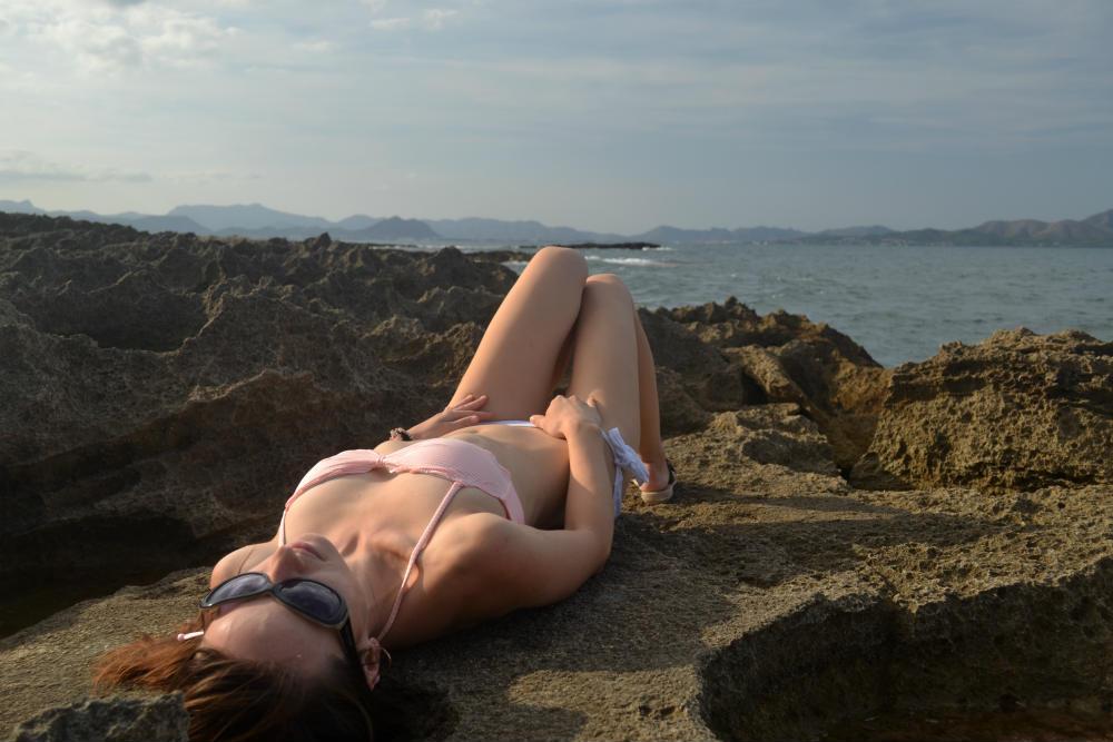 Sunbathing on the rocks