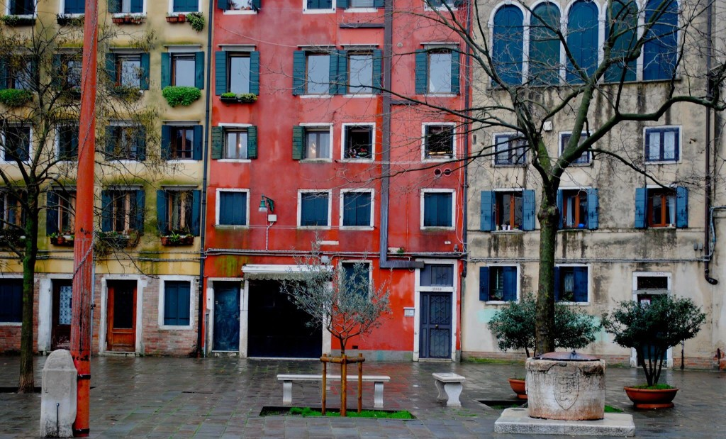The unusually tall buildings of Venice's Jewish Ghetto