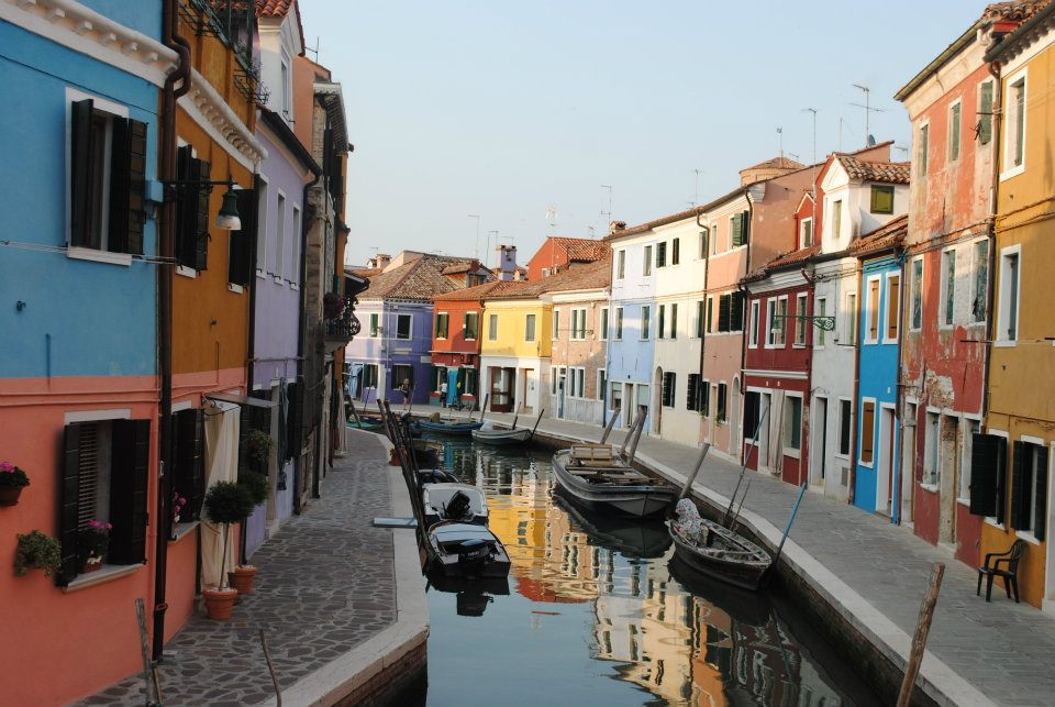 The colourful canals of Burano