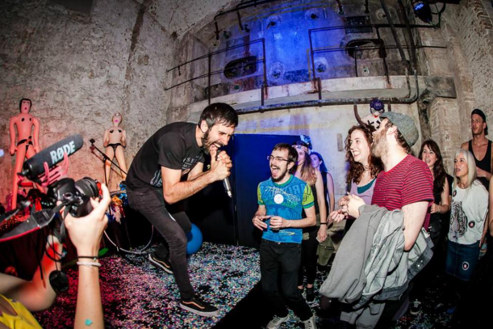 Rocking out at AK! (Photo by Desi Estevez for Anti-Karaoke).