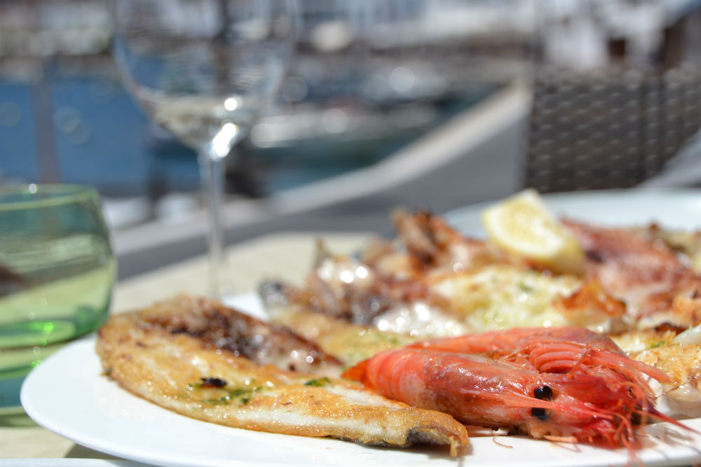Long lunch at the peaceful Es Castells marina