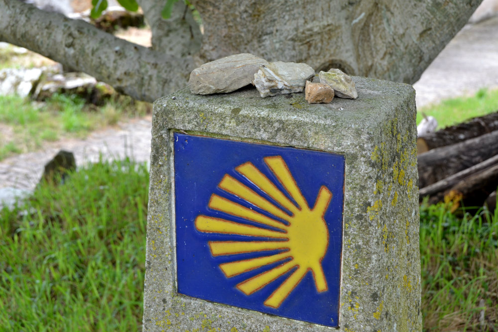 The symbol of the shell will lead you all the way to Santiago