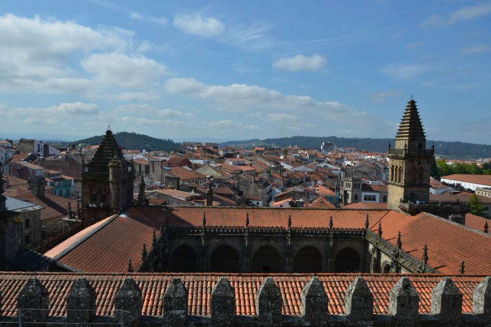 A view over Santiago de Compostela from the cathedral