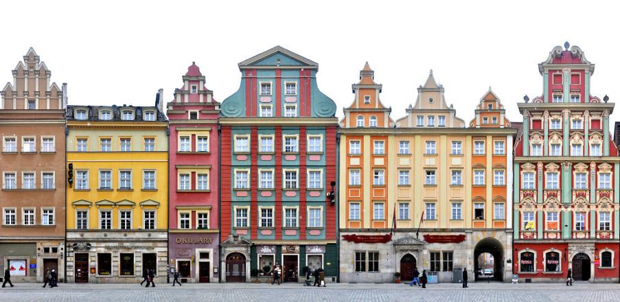 Breslau Fassaden Rynek Grosser Ring