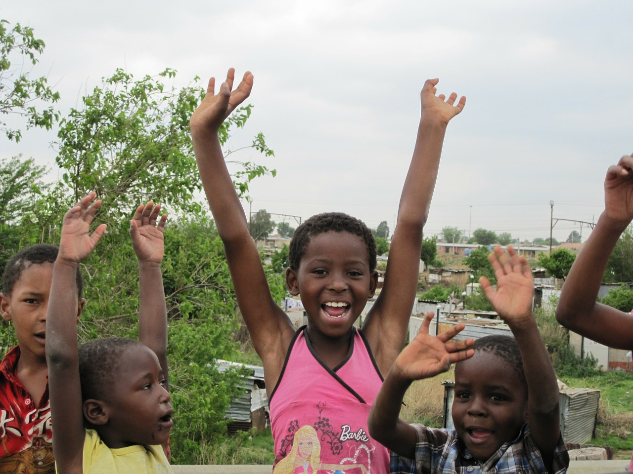 Children from the Soweto township