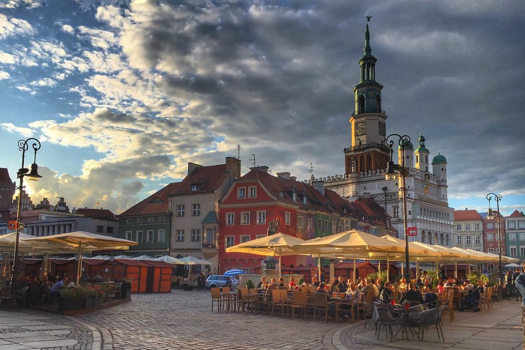 Life is always good on Poznan's market square