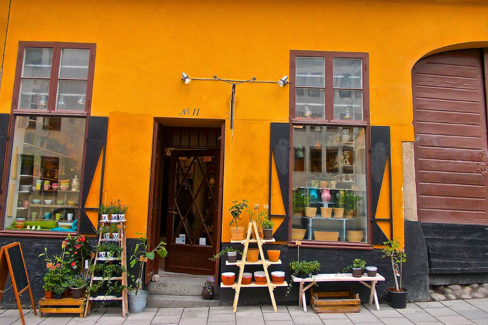 An artsy store in Sodermalm...