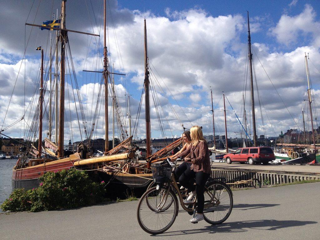 Take in Stockholm in the saddle...