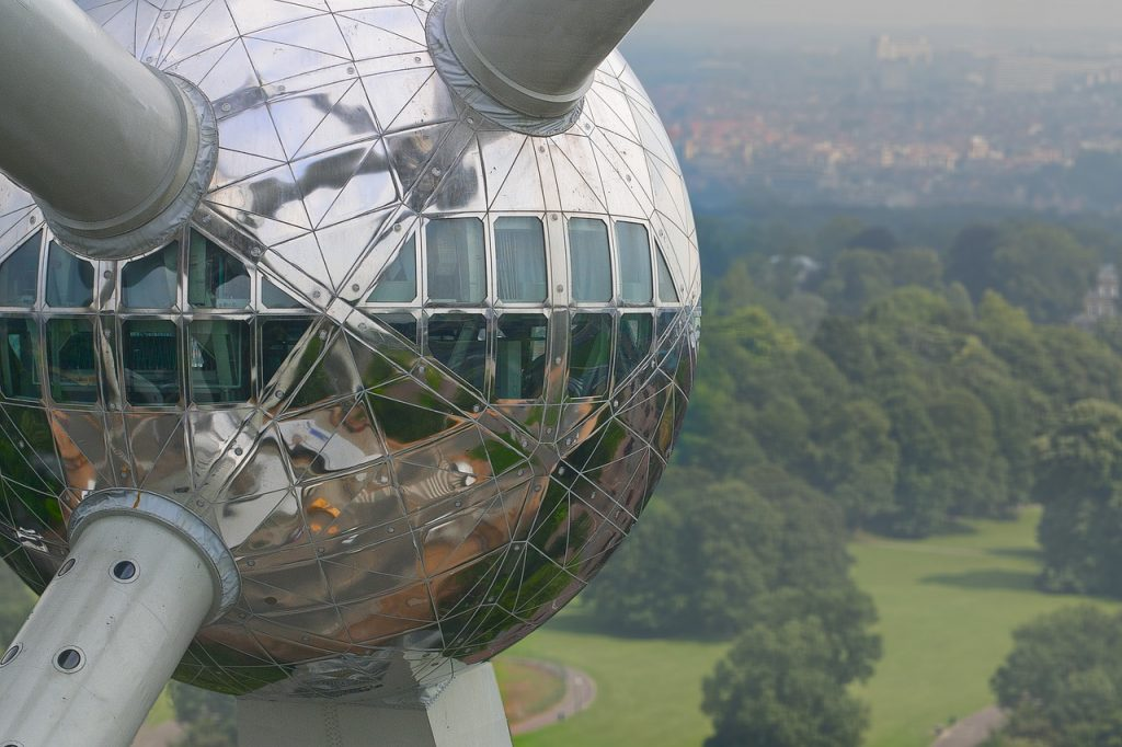 The futuristic Atomium was built back in 1958