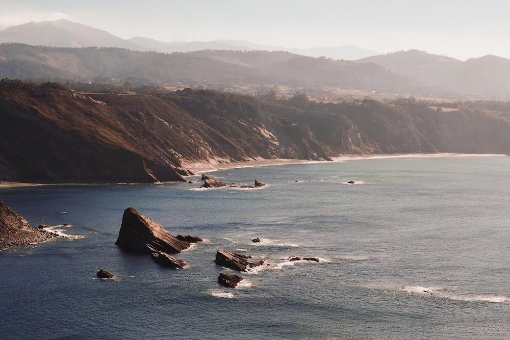 The craggy cliffs of Cabo de Vidio