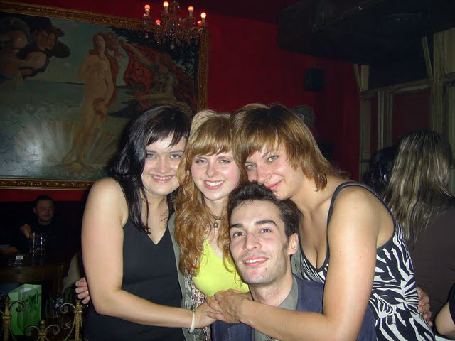 The Three Graces after a few cherry vodkas