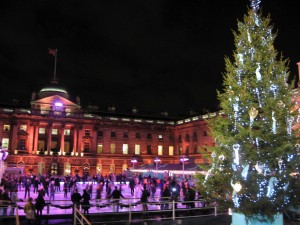 Rink-a-rama at Somerset House