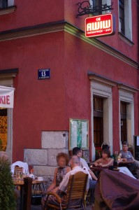 Pierogi al fresco in Kazimierz