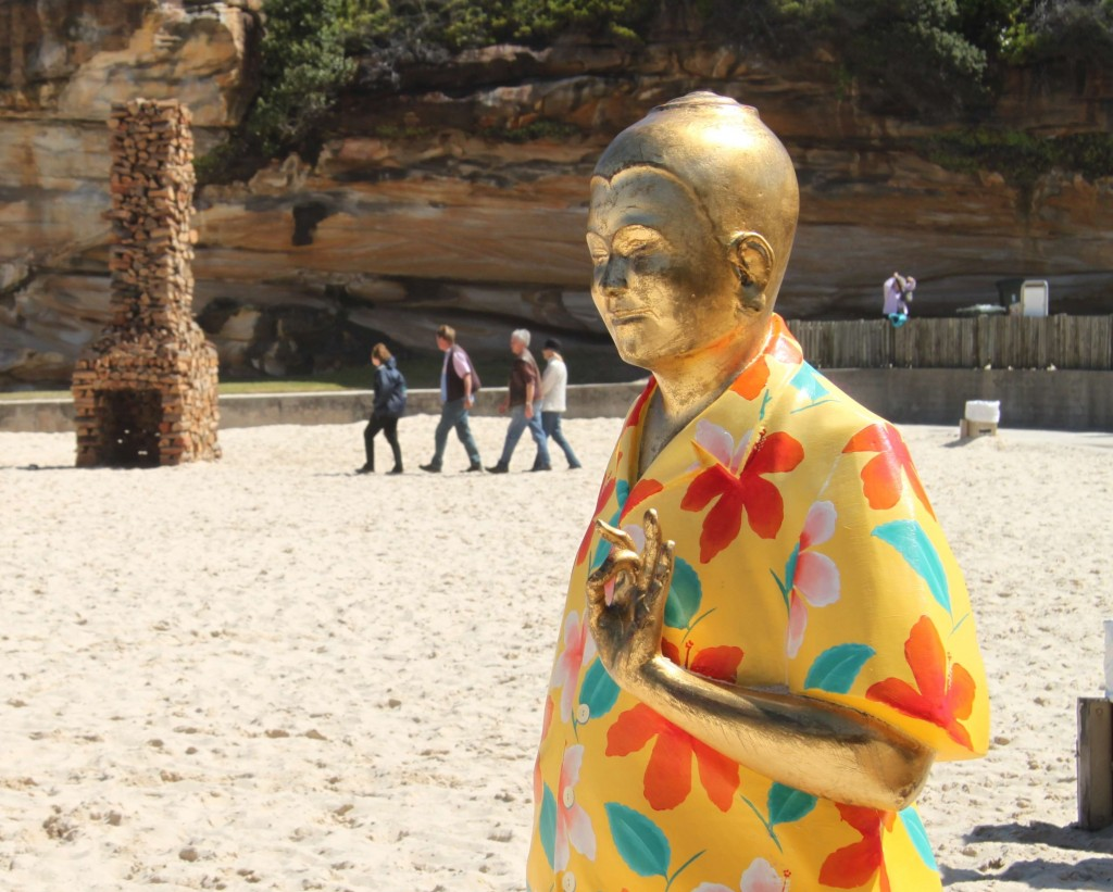 Buddha meets Bondi during Sculpture by the Sea.