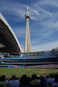 The CN Tower from Rodgers Stadium