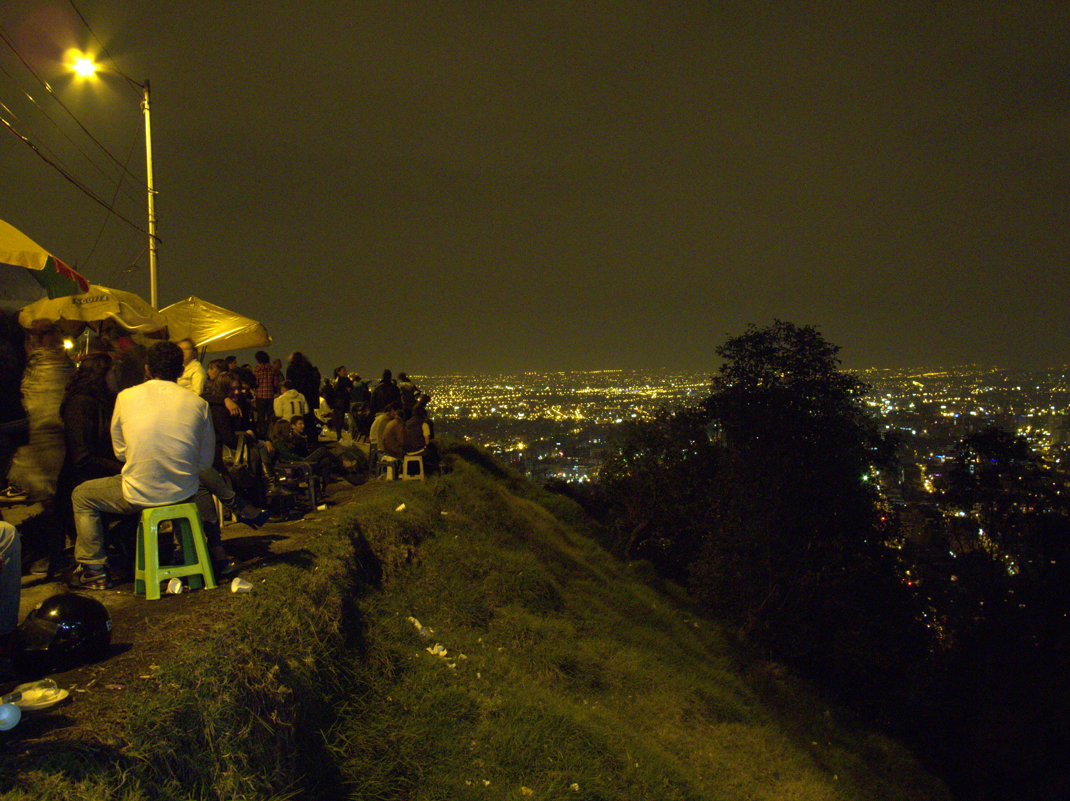 The view of bogota atop el mirador