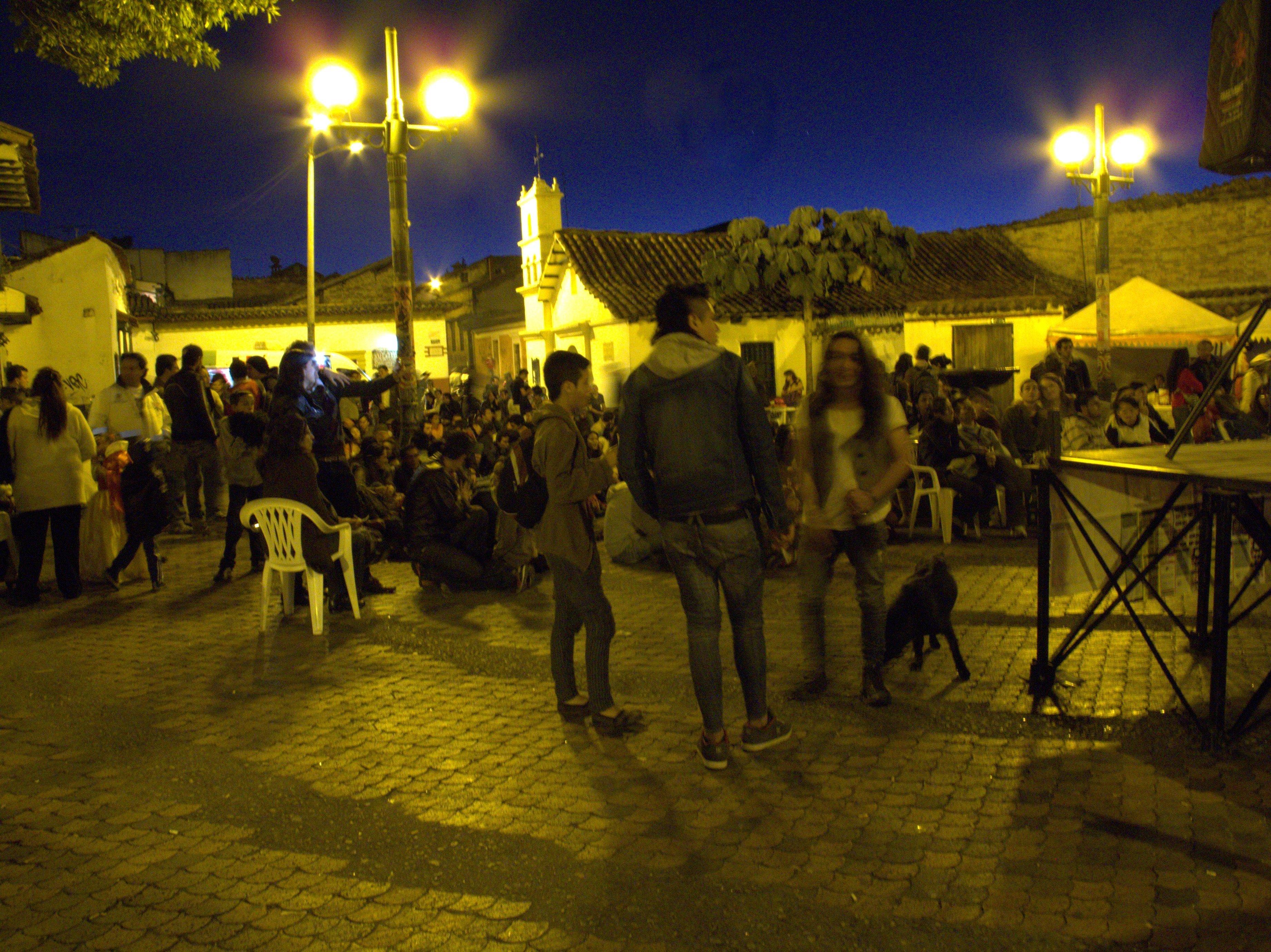 A music festival in Bogota's Chorro de Quevedo
