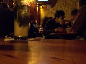 Drinking chicha and margaritas in Chorro