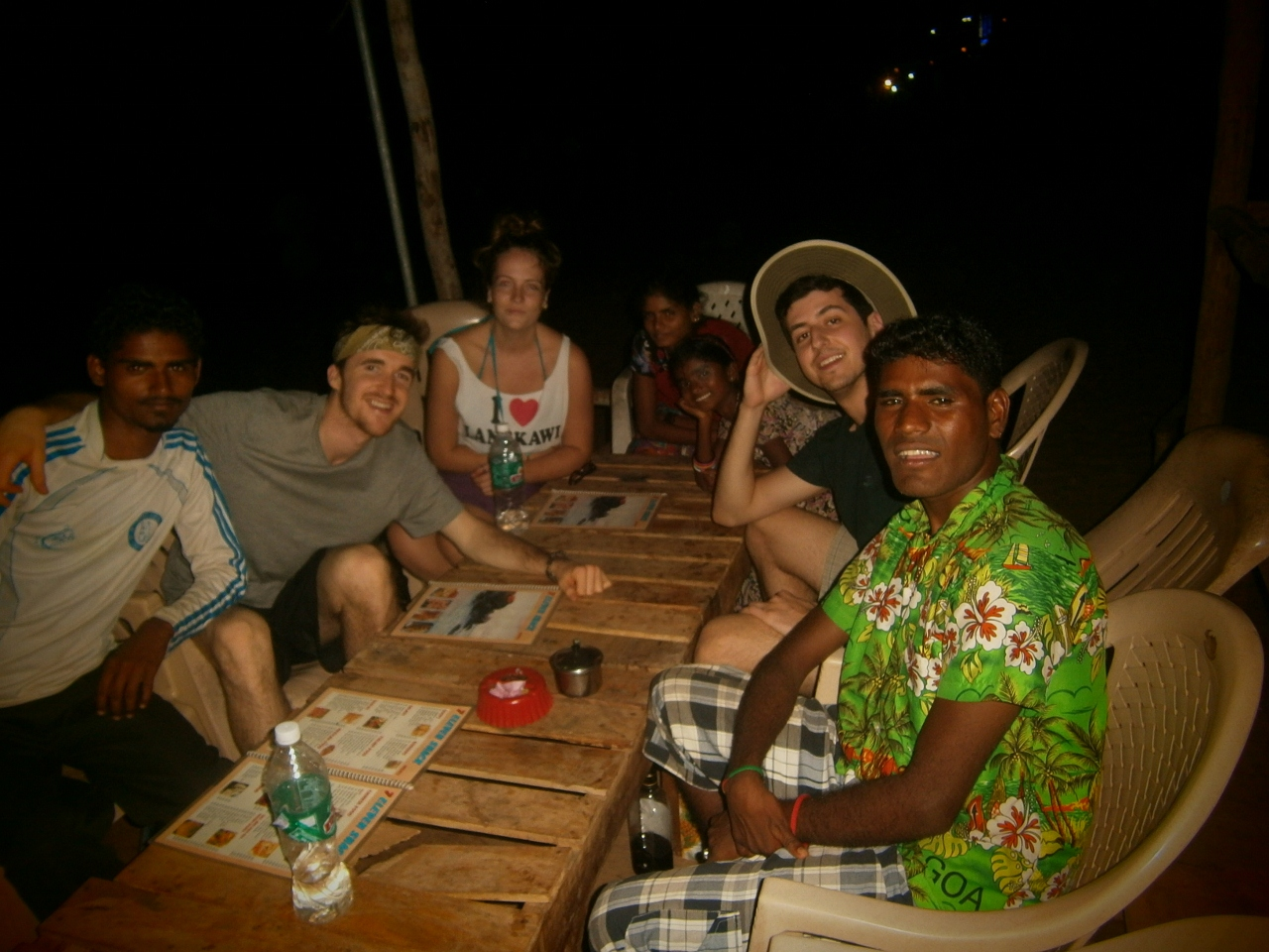 dinner with locals in Goa India