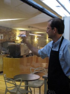Jaime Duque in The Coffee Lab