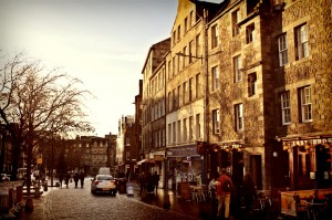 The Grassmarket, picturesque and sedate by day, raucous and unapologetic by night.