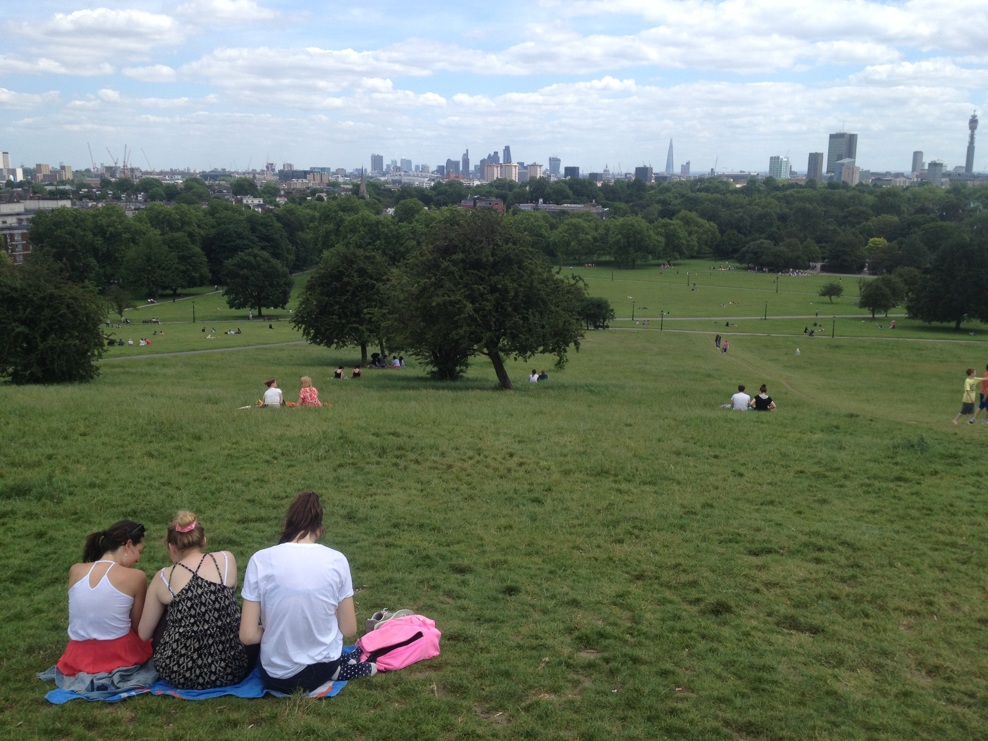 Views of London from Primrose Hill
