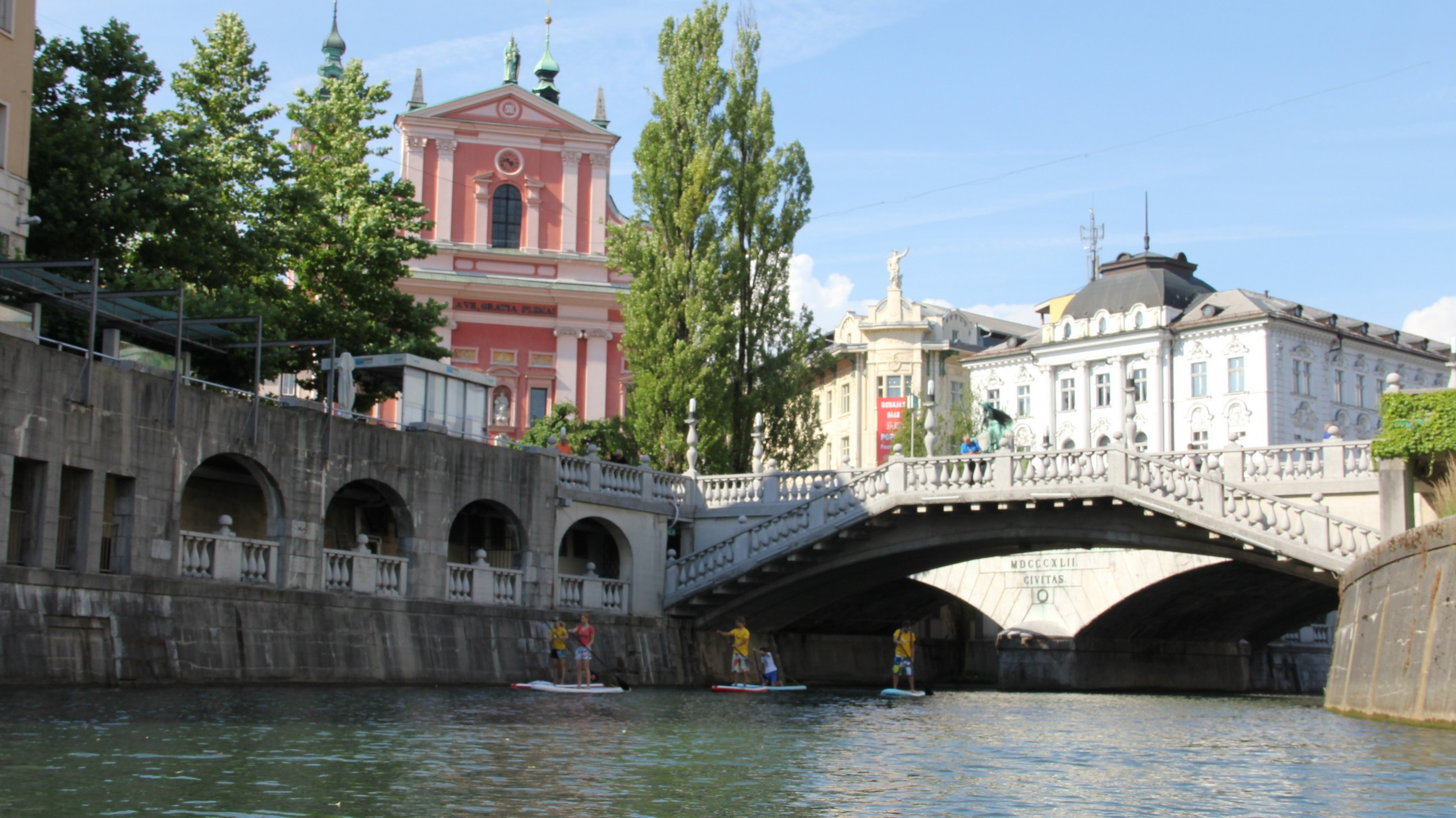 SUP Ljubljana city, Ljubljanica river