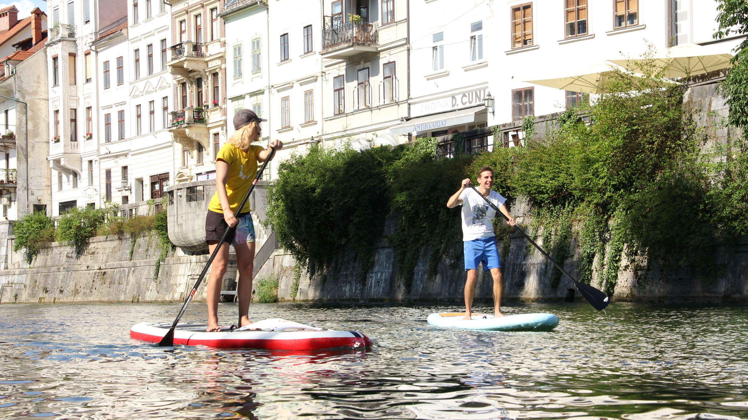 stand up paddle boarding in Ljubljana, Slovenia