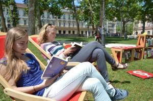 Some light reading in Ljubljana