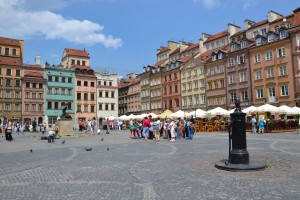 old but new Old Town in Warsaw