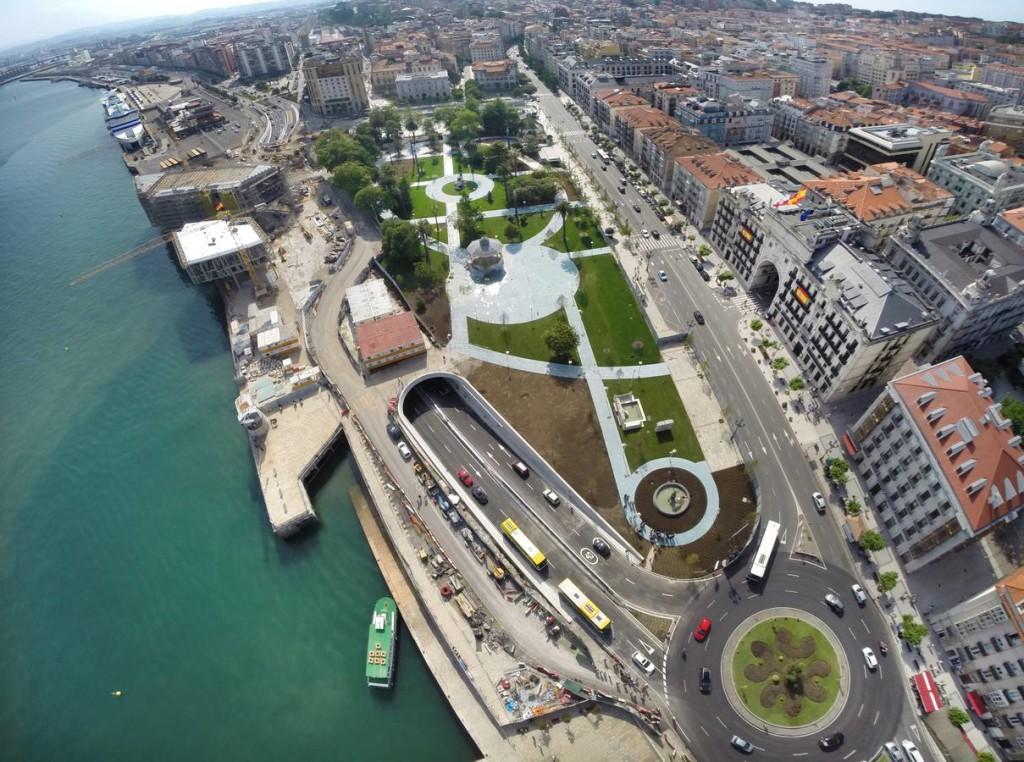 Aerial view of the Jardines de Pereda. Photo credit Mirincondelabahia.