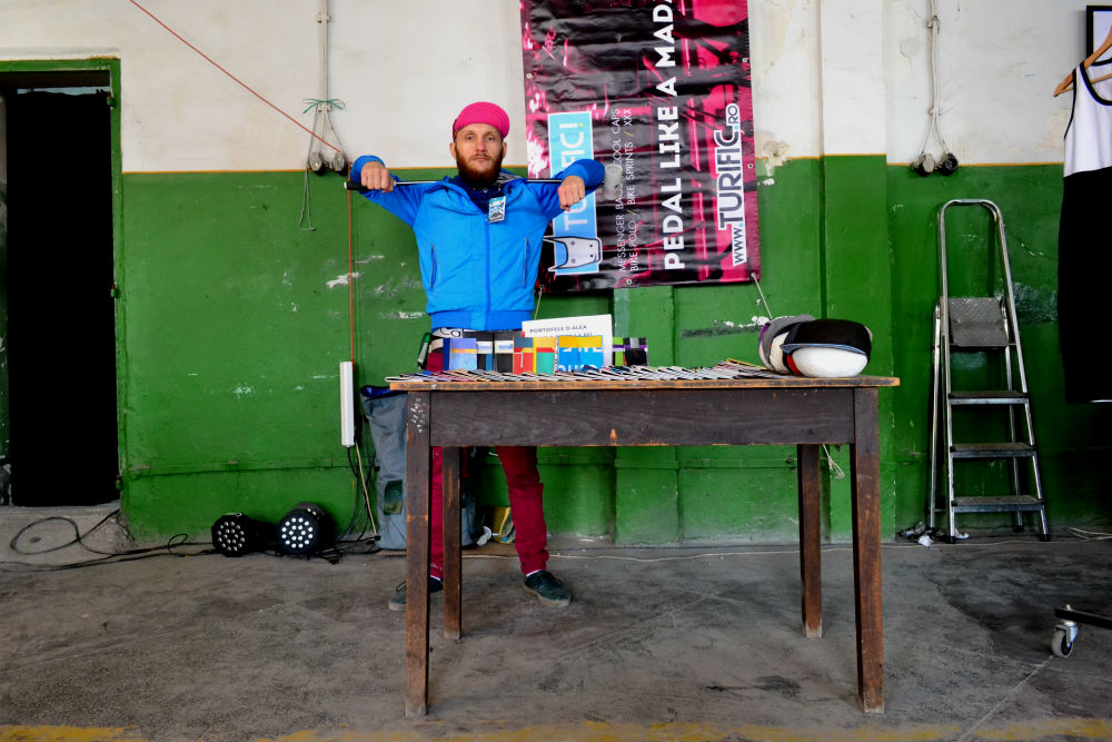 This cool cat sells wallets from recycled PVC banners