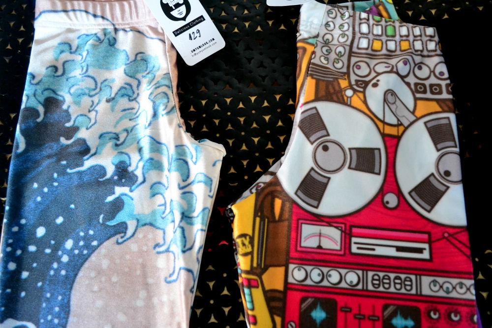 The funky leggings on the left now belong in my gf's wardrobe...