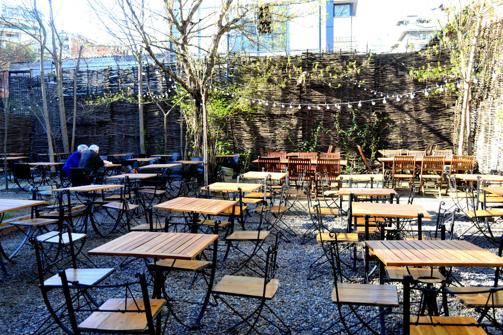 A divine beer garden, not a humble terrace