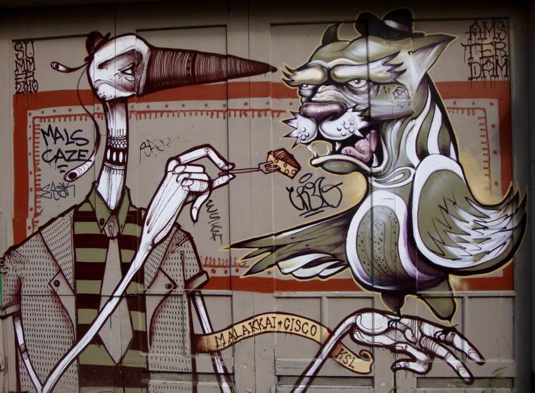 TheLaughingMedusa.com Street Graffiti Amsterdam