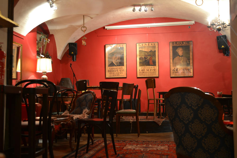 The charismatic interior of Daktari bar