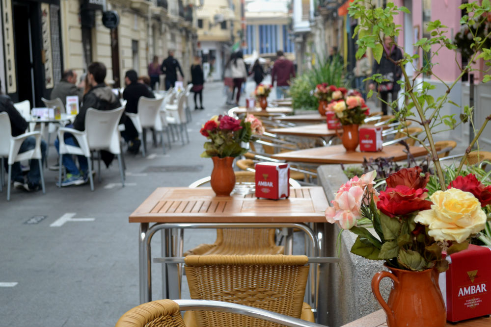 Street terraces are now the norm in Russafa
